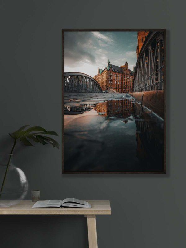 tombaenre-wandbild-wohndeko-kunstdruck-hamburg-bilder-poster-alu-verbund-speicherstadt-reflektion-7