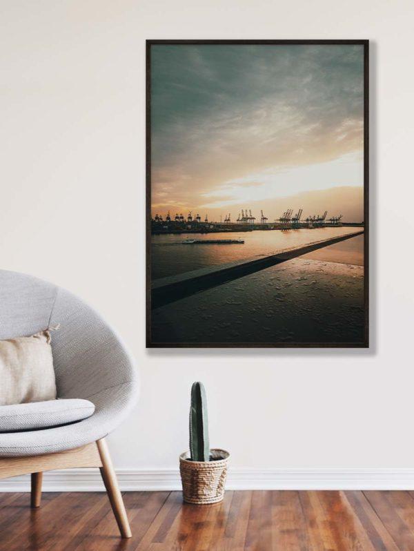 tombaenre-wandbild-wohndeko-kunstdruck-hamburg-bilder-poster-alu-verbund-hafen-sonnenuntergang-2