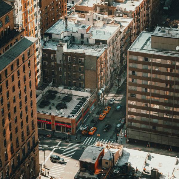 New York City - Blick auf die Dächer Manhattans aus dem 33. Stock