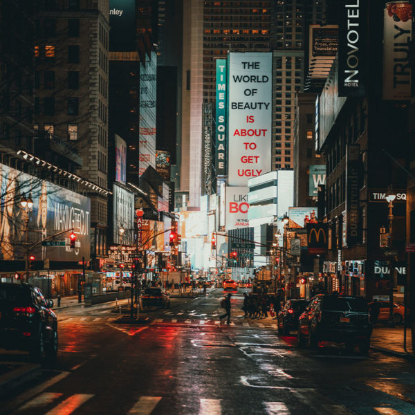 New York City - Der Time Square bei Nacht