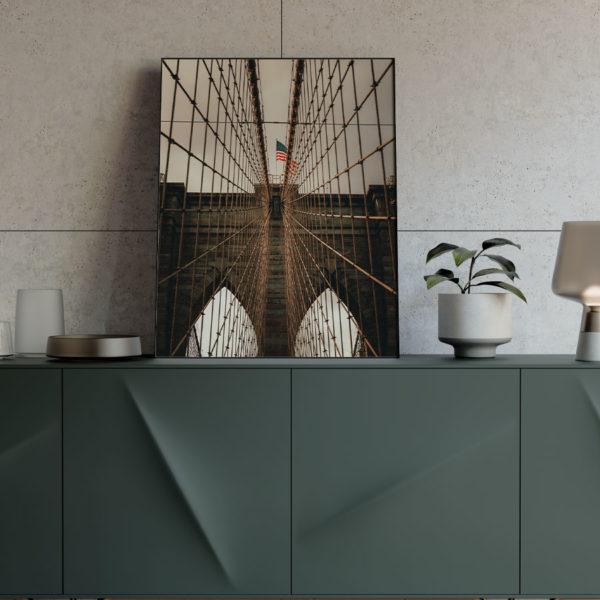 Poster New York City Brookly Bridge Mock-Up