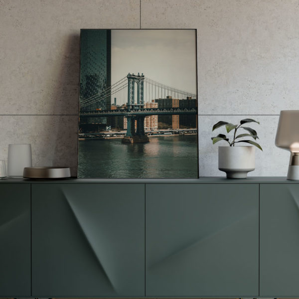 Poster New York City Manhattan Bridge Mock-Up