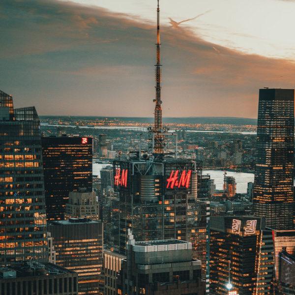New York City - Blick über den Time Square vom Rockefeller Center aus