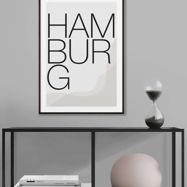 Hamburg Poster als Digitaler Print zum selbst ausdrucken