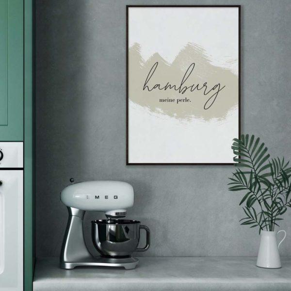 hamburg-meine-perle-handwritting-poster-print-digital-tombaenre-2