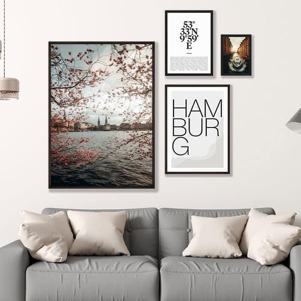 Hamburg-im-Frühling-Poster-Set