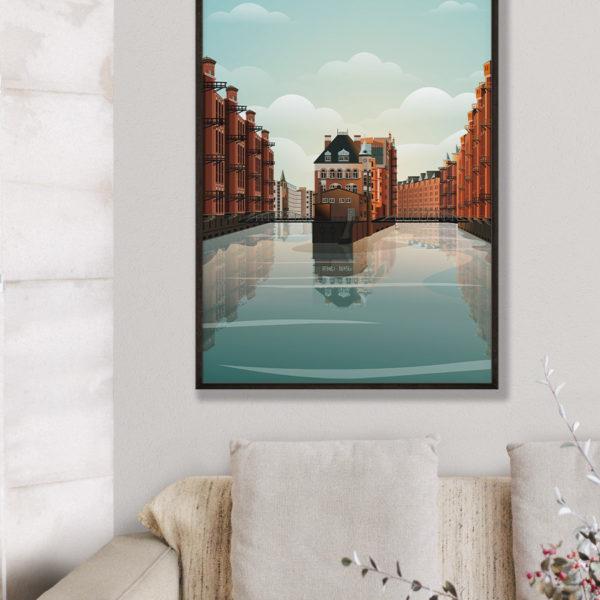 tombaenre-wandbild-wohndeko-kunstdruck-hamburg-bilder-poster-alu-verbund-hamburg-wasserschloss-grafik-4