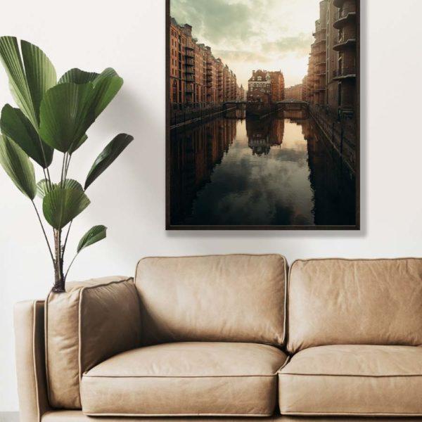 tombaenre-wandbild-wohndeko-kunstdruck-hamburg-bilder-poster-alu-verbund-wasserschloss-reflektion1